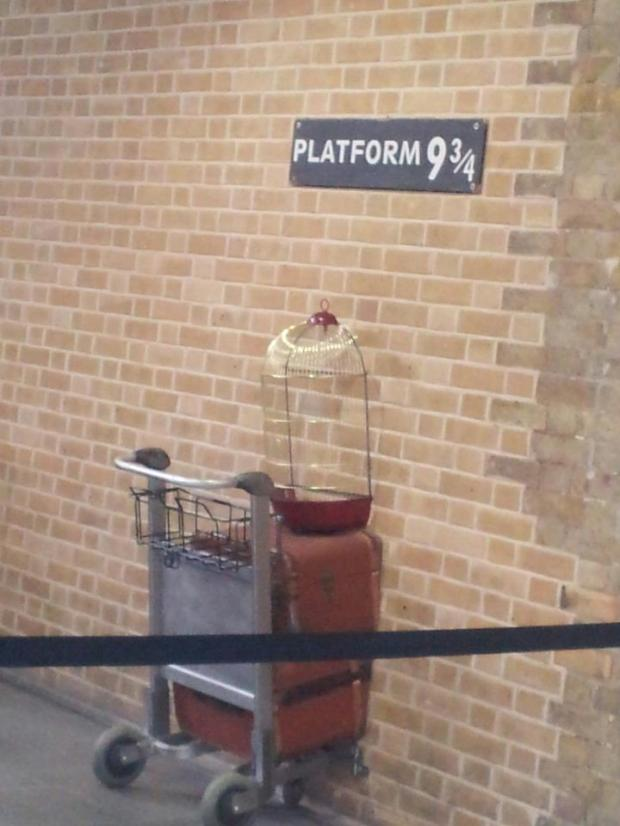 King's Cross station - platform 9 3/4 from Harry Potter