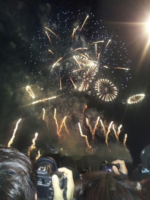 Hogmanay NYE fireworks