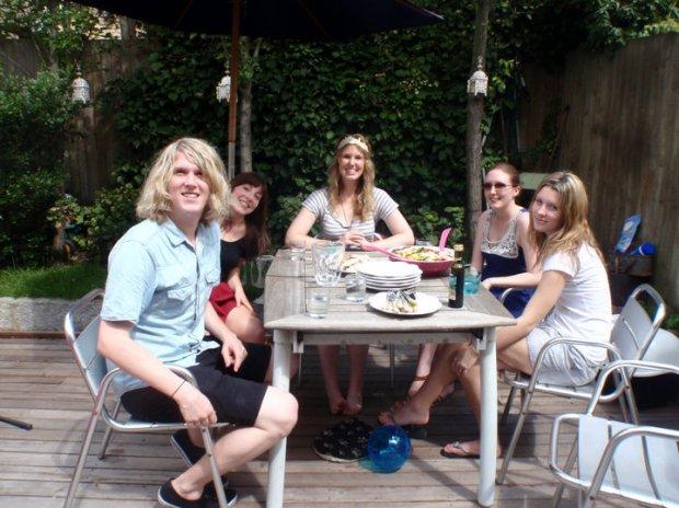 BBQ summer lunch in Clapham, London 2010