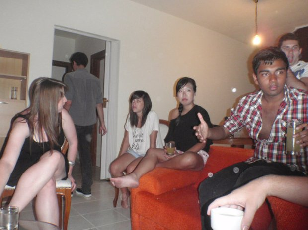 Albanian apartment party