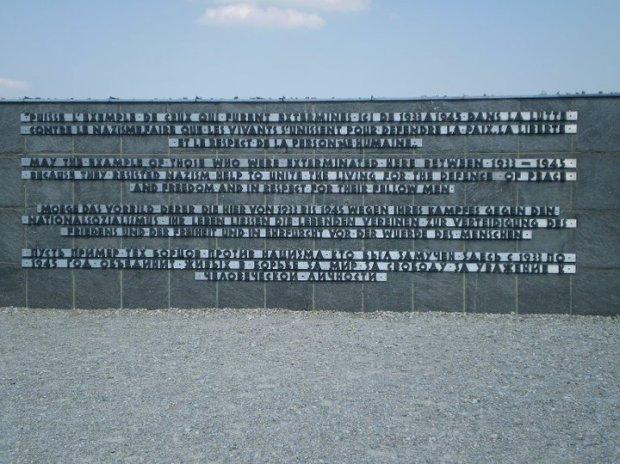 Dachau memorial text