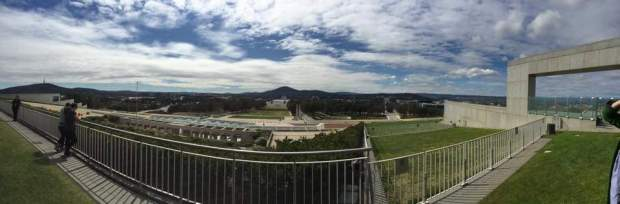 Rooftop view from Parliament House