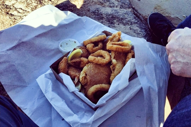 fish and chips | day trip to Redcliffe